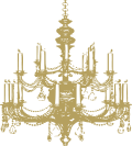 Icon Kronleuchter gold